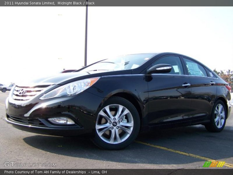 Midnight Black / Black 2011 Hyundai Sonata Limited