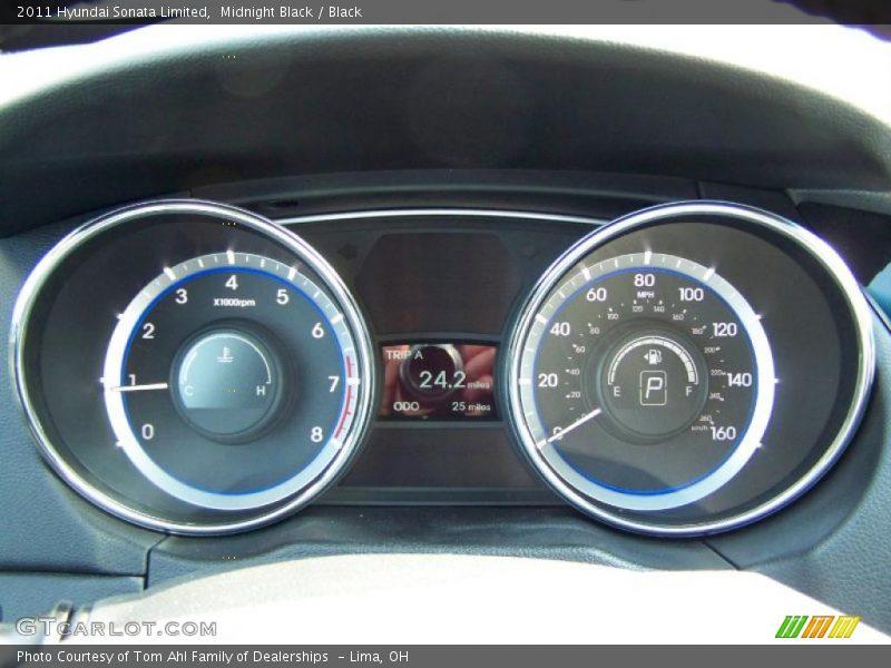 Midnight Black / Black 2011 Hyundai Sonata Limited