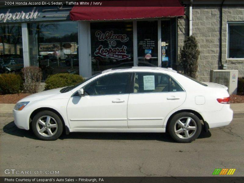 2004 honda accord ex l sedan in taffeta white photo no 26856618. Black Bedroom Furniture Sets. Home Design Ideas