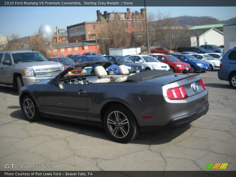 this sterling grey metallic 2010 ford mustang v6 premium convertible. Black Bedroom Furniture Sets. Home Design Ideas