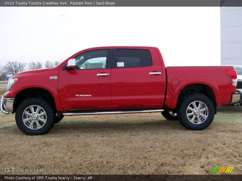 2010 toyota tundra crewmax 4x4 in radiant red photo no 27174179. Black Bedroom Furniture Sets. Home Design Ideas