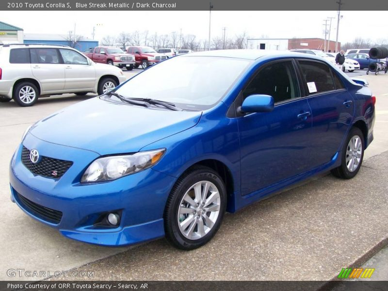 Blue Streak Metallic / Dark Charcoal 2010 Toyota Corolla S