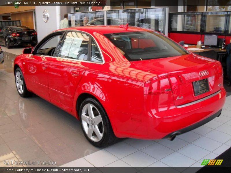 2005 audi a4 2 0t quattro sedan in brilliant red photo no 27517559. Black Bedroom Furniture Sets. Home Design Ideas