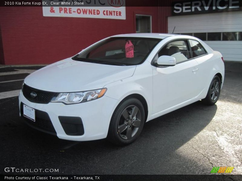 2010 kia forte koup ex in clear white photo no 27573273. Black Bedroom Furniture Sets. Home Design Ideas