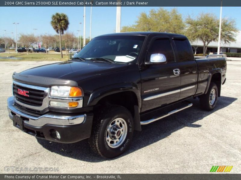 2004 gmc sierra 2500hd sle extended cab 4x4 in carbon metallic photo no 27751309. Black Bedroom Furniture Sets. Home Design Ideas