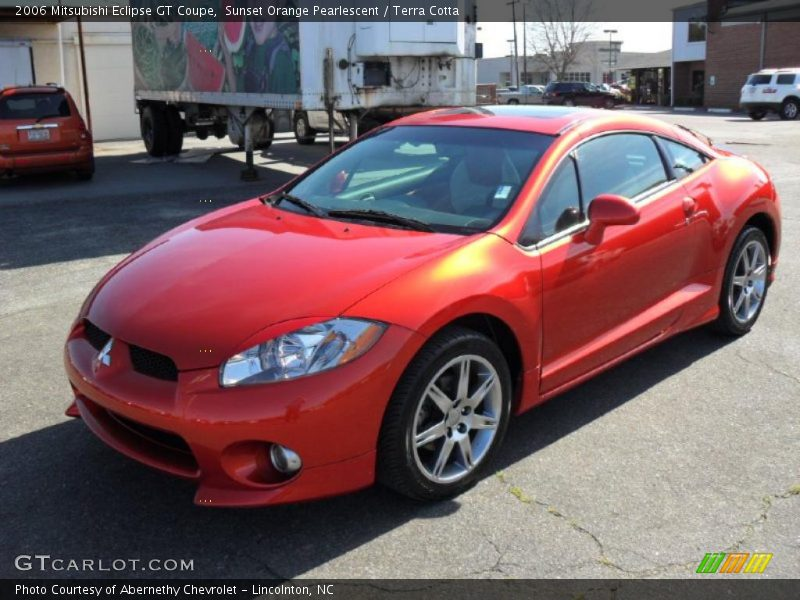 2006 mitsubishi eclipse gt coupe in sunset orange. Black Bedroom Furniture Sets. Home Design Ideas