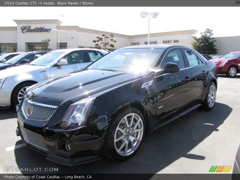 2010 cadillac cts v sedan in black raven photo no. Black Bedroom Furniture Sets. Home Design Ideas