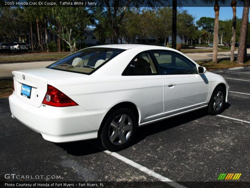 2005 honda civic ex coupe in taffeta white photo no. Black Bedroom Furniture Sets. Home Design Ideas