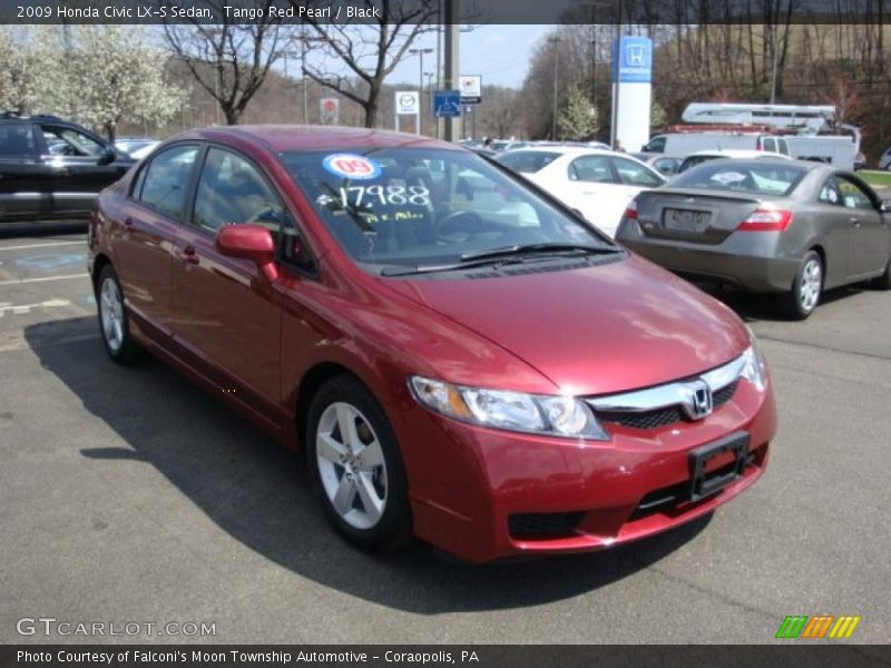 2009 honda civic lx s sedan in tango red pearl photo no. Black Bedroom Furniture Sets. Home Design Ideas