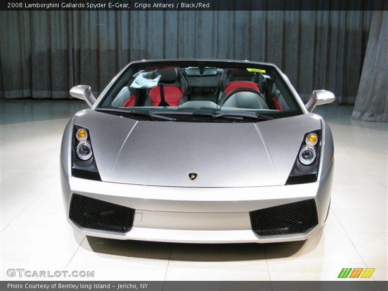 Grigio Antares / Black/Red 2008 Lamborghini Gallardo Spyder E-Gear