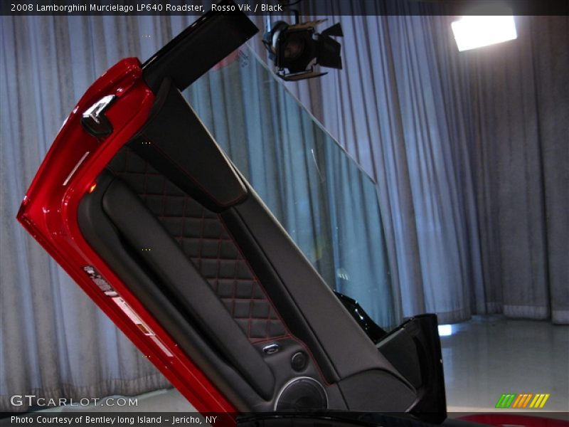 Rosso Vik / Black 2008 Lamborghini Murcielago LP640 Roadster