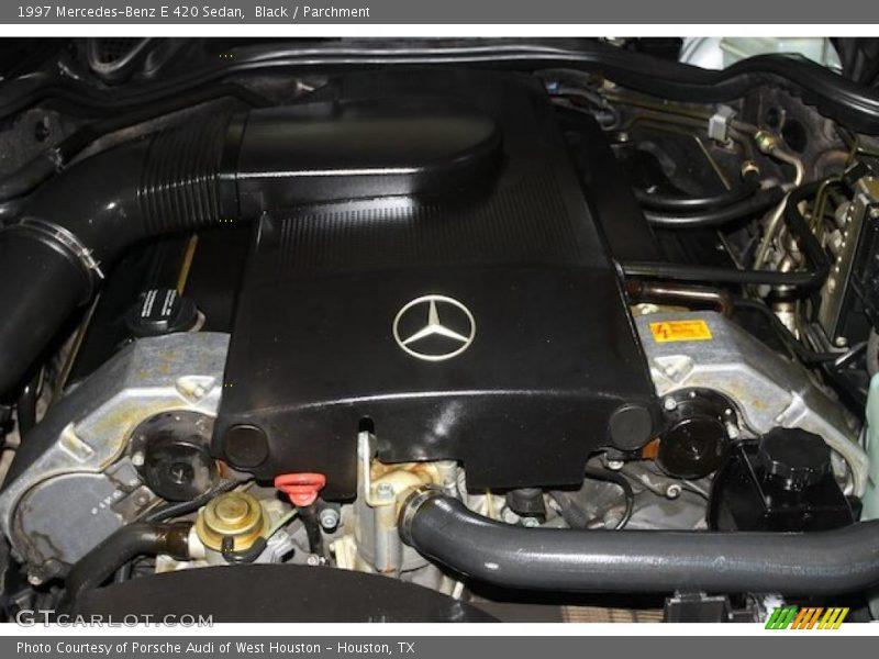 Black / Parchment 1997 Mercedes-Benz E 420 Sedan