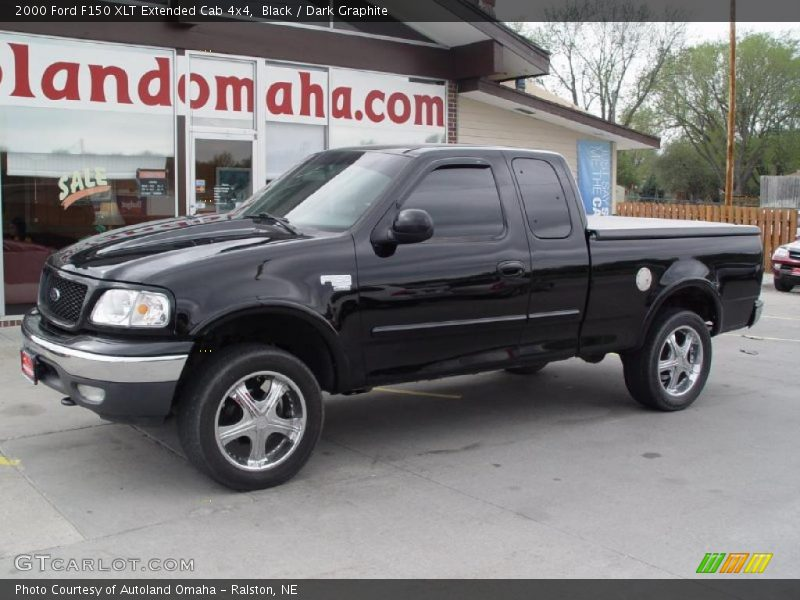 2000 Ford F150 Xlt Extended Cab 4x4 In Black Photo No