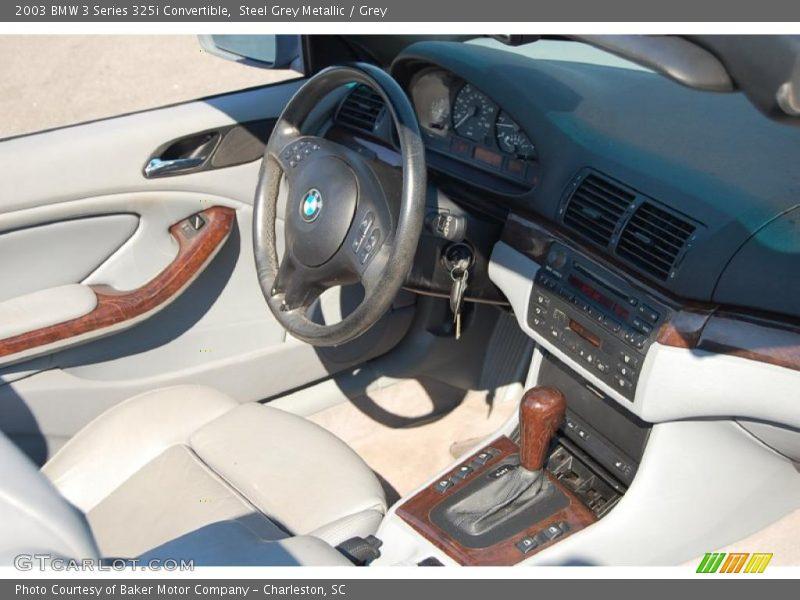 Steel Grey Metallic / Grey 2003 BMW 3 Series 325i Convertible