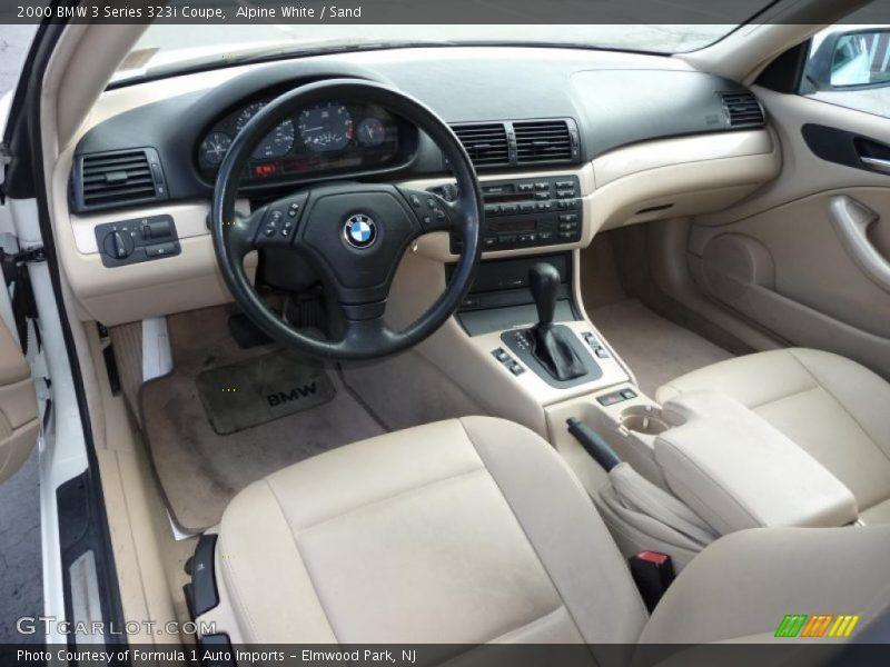 Alpine White / Sand 2000 BMW 3 Series 323i Coupe