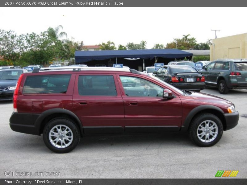 2007 volvo xc70 awd cross country in ruby red metallic photo no 28819675. Black Bedroom Furniture Sets. Home Design Ideas