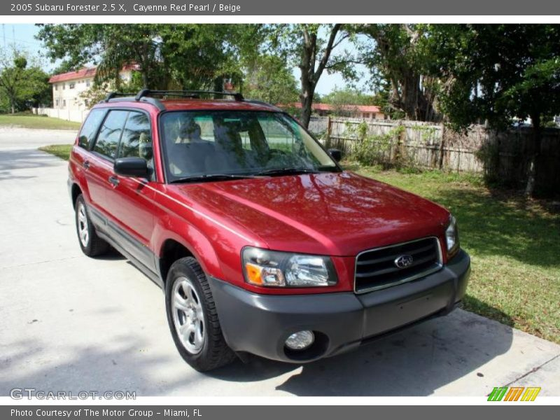 2005 subaru forester 2 5 x in cayenne red pearl photo no 28819683. Black Bedroom Furniture Sets. Home Design Ideas