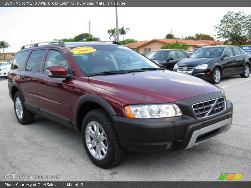 2007 volvo xc70 awd cross country in ruby red metallic photo no 28819699. Black Bedroom Furniture Sets. Home Design Ideas
