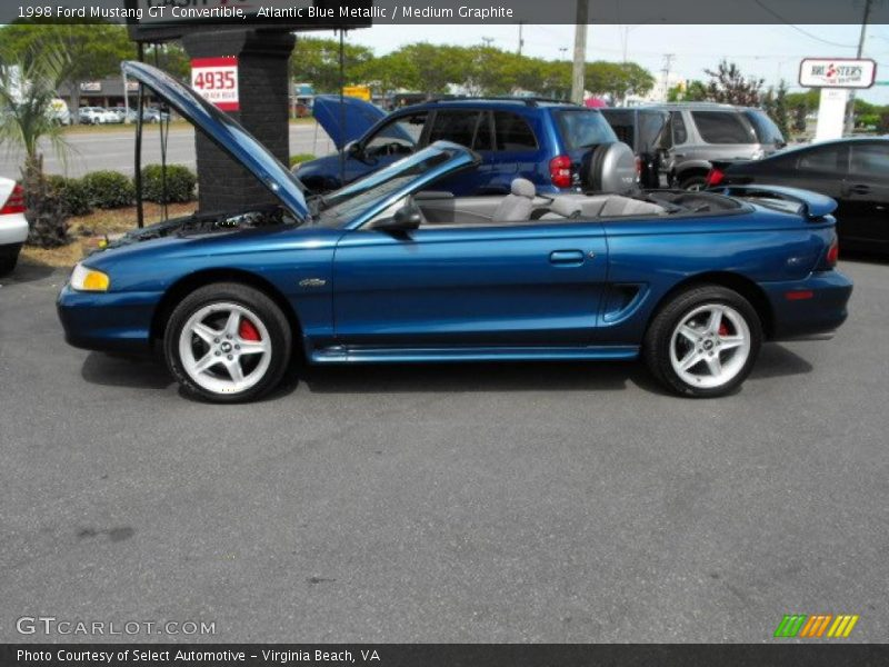 1998 Ford Mustang Gt Convertible In Atlantic Blue Metallic