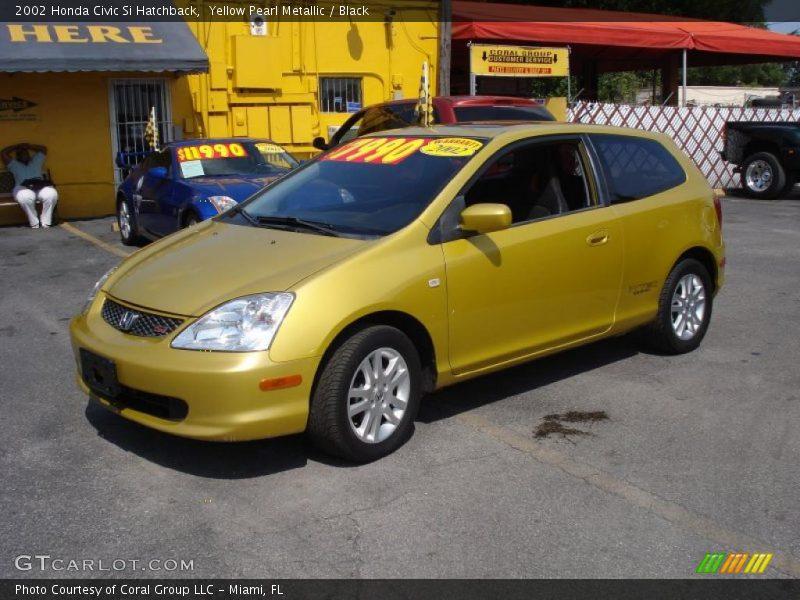 2002 honda civic si hatchback in yellow pearl metallic for 2002 honda civic hatchback