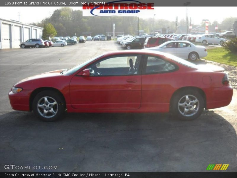 1998 pontiac grand prix gt coupe in bright red photo no 28968945. Black Bedroom Furniture Sets. Home Design Ideas