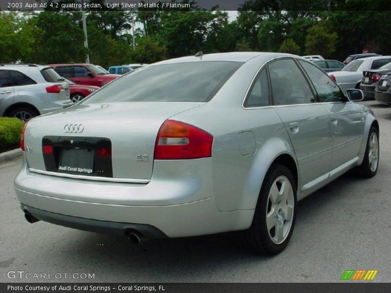 2003 audi a6 4 2 quattro sedan in light silver metallic. Black Bedroom Furniture Sets. Home Design Ideas