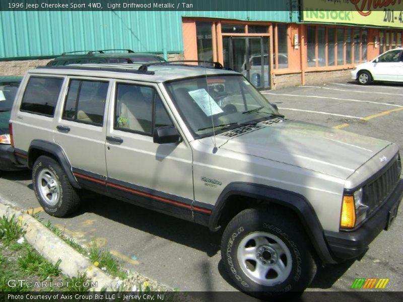 1996 Jeep Cherokee Sport 4wd In Light Driftwood Metallic