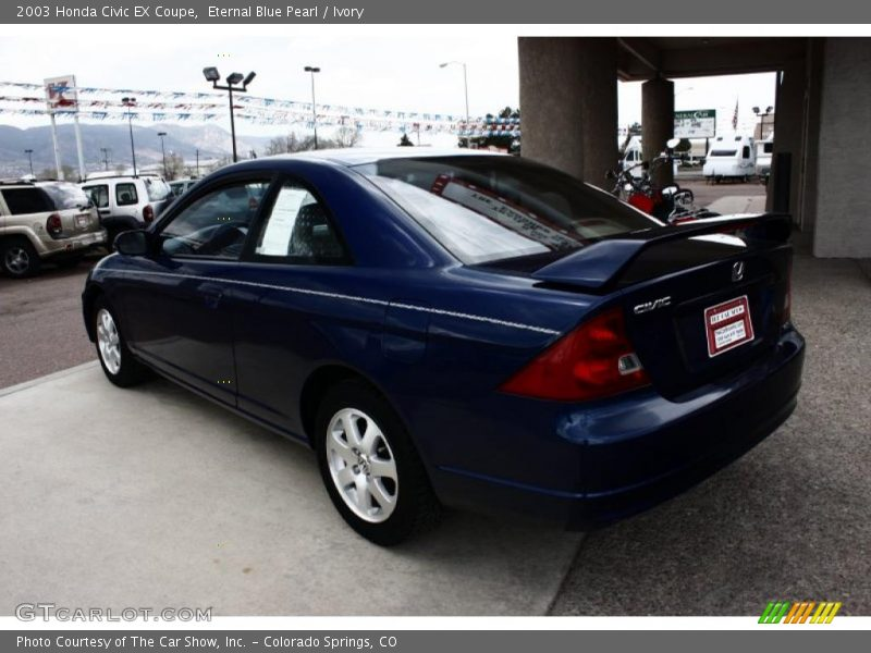2003 honda civic ex coupe in eternal blue pearl photo no 29017095. Black Bedroom Furniture Sets. Home Design Ideas