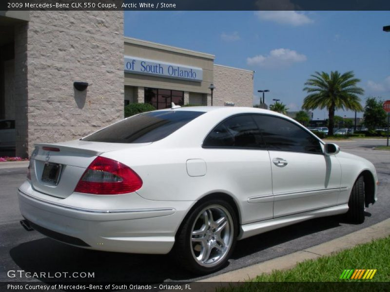 2009 mercedes benz clk 550 coupe in arctic white photo no for G stone motors used cars