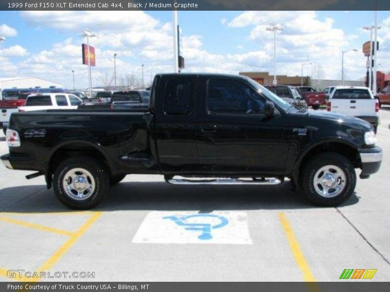 1999 Ford F150 Xlt Extended Cab 4x4 In Black Photo No