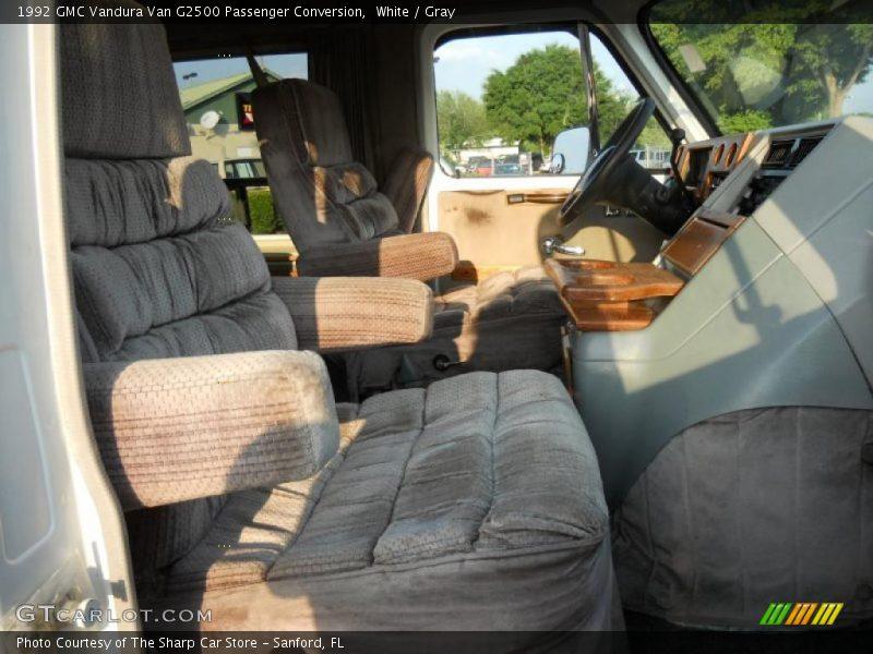 White / Gray 1992 GMC Vandura Van G2500 Passenger Conversion