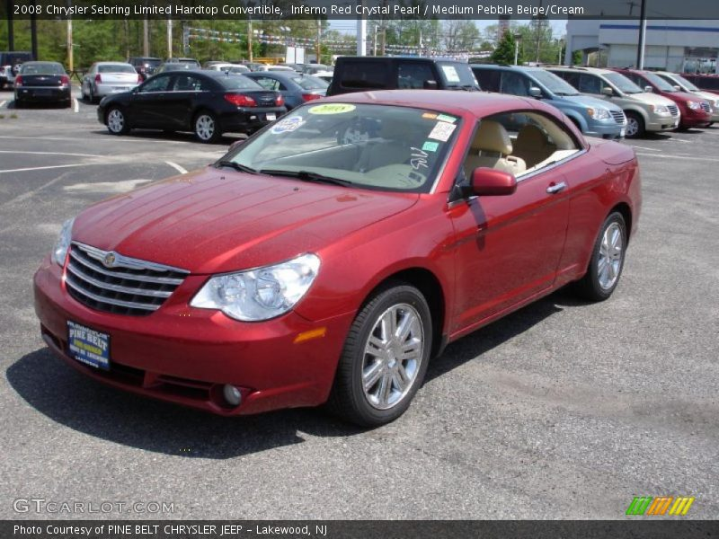 2008 chrysler sebring limited hardtop convertible in inferno red crystal pearl photo no. Black Bedroom Furniture Sets. Home Design Ideas