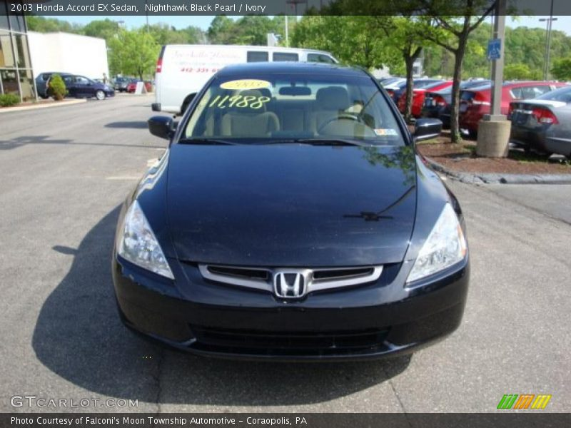 2003 honda accord ex sedan in nighthawk black pearl photo for 2003 honda accord ex sedan