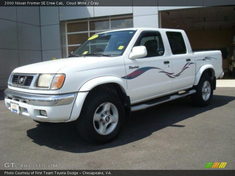 2000 nissan frontier se crew cab in cloud white photo no 29601634. Black Bedroom Furniture Sets. Home Design Ideas