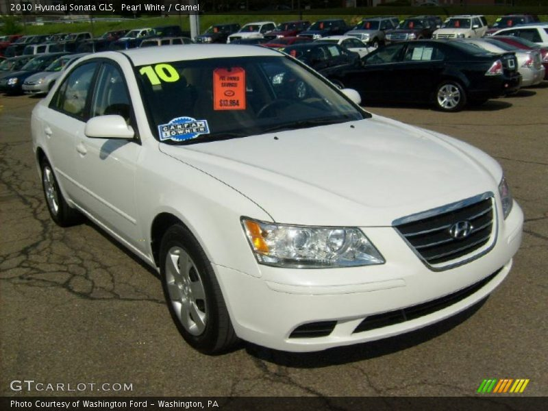 2010 hyundai sonata gls in pearl white photo no 29627282