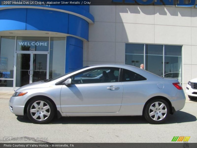 2007 honda civic lx coupe in alabaster silver metallic photo no. Black Bedroom Furniture Sets. Home Design Ideas