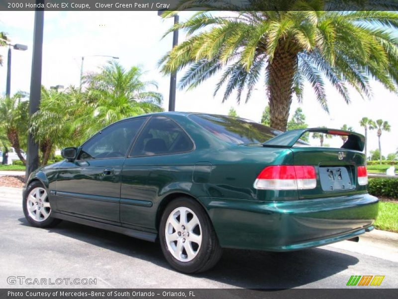 2000 honda civic ex coupe in clover green pearl photo no 29825533. Black Bedroom Furniture Sets. Home Design Ideas