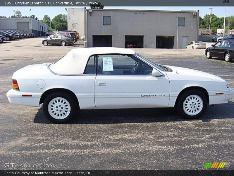 1995 chrysler lebaron gtc convertible in white photo no. Black Bedroom Furniture Sets. Home Design Ideas