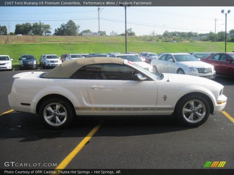 2007 ford mustang v6 premium convertible in performance white photo no 30675936. Black Bedroom Furniture Sets. Home Design Ideas
