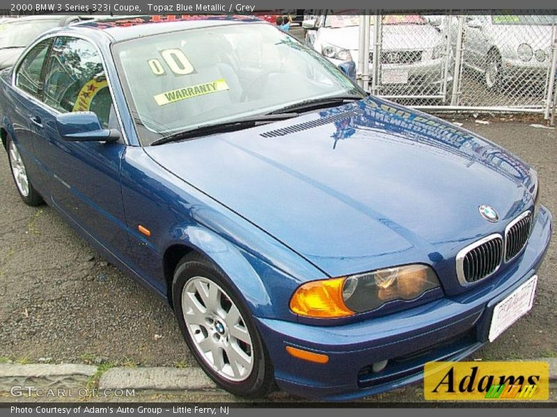 Topaz Blue Metallic / Grey 2000 BMW 3 Series 323i Coupe