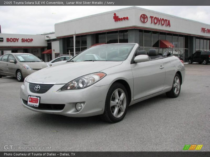 2005 toyota solara sle v6 convertible in lunar mist silver. Black Bedroom Furniture Sets. Home Design Ideas