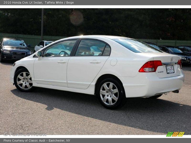 2010 honda civic lx sedan in taffeta white photo no 30943177. Black Bedroom Furniture Sets. Home Design Ideas