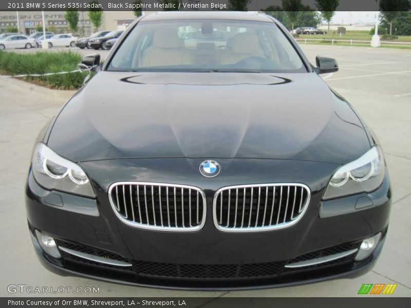 Black Sapphire Metallic / Venetian Beige 2011 BMW 5 Series 535i Sedan