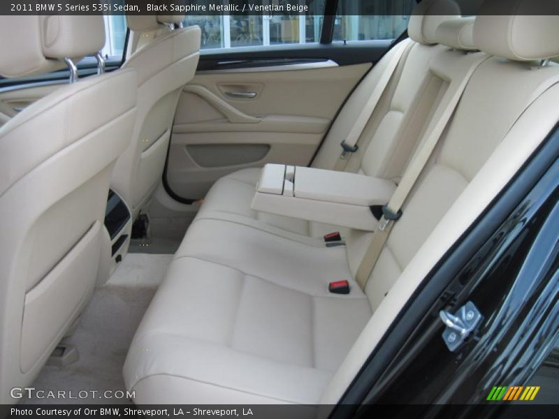 Black Sapphire Metallic / Venetian Beige 2011 BMW 5 Series 535i Sedan