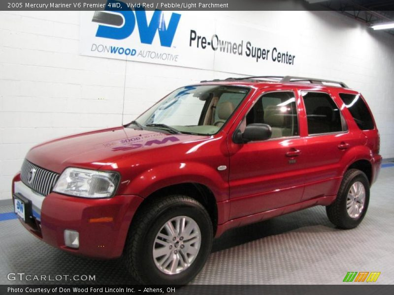 2005 mercury mariner v6 premier 4wd in vivid red photo no. Black Bedroom Furniture Sets. Home Design Ideas