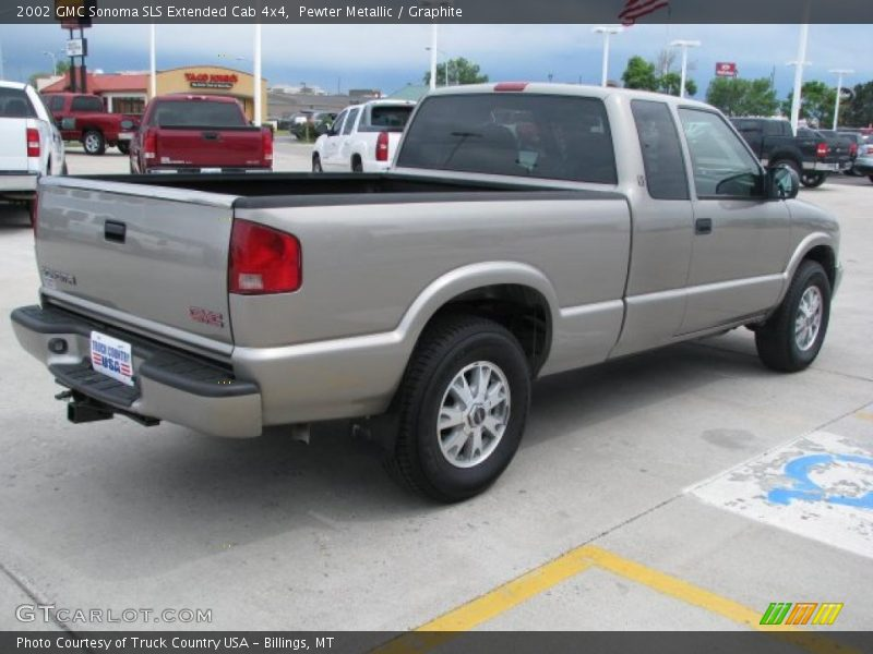 2002 gmc sonoma sls extended cab 4x4 in pewter metallic. Black Bedroom Furniture Sets. Home Design Ideas