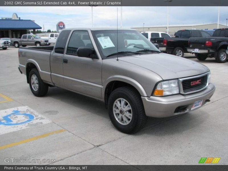 2002 gmc sonoma sls extended cab 4x4 in pewter metallic photo no 31868310. Black Bedroom Furniture Sets. Home Design Ideas