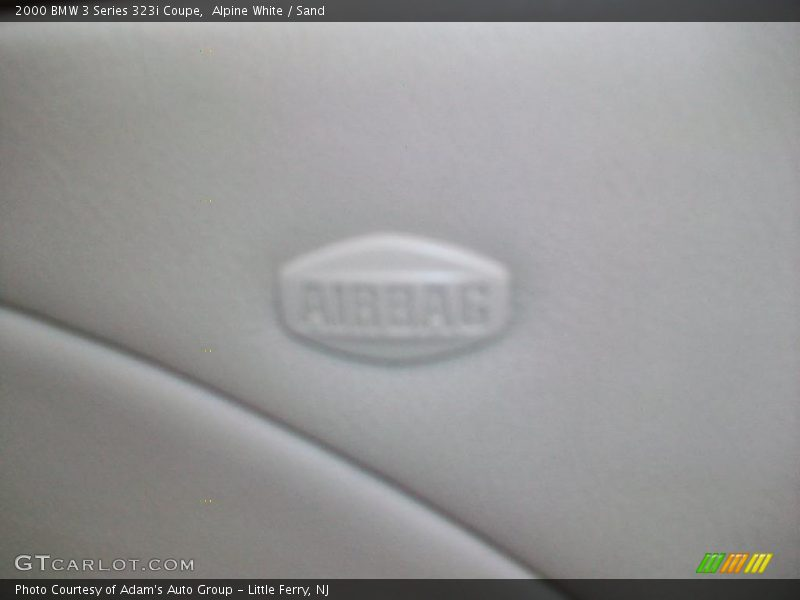 Alpine White / Sand 2000 BMW 3 Series 323i Coupe