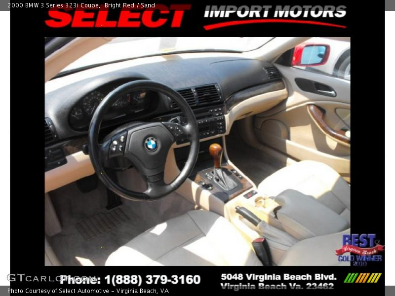 Bright Red / Sand 2000 BMW 3 Series 323i Coupe