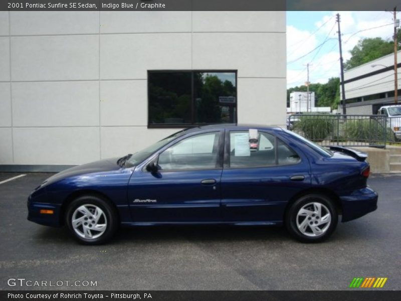 2001 Pontiac Sunfire SE Sedan in Indigo Blue Photo No. 32264401 ...